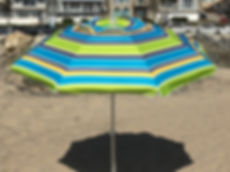 1375 Lime 7ft Beach Umbrella