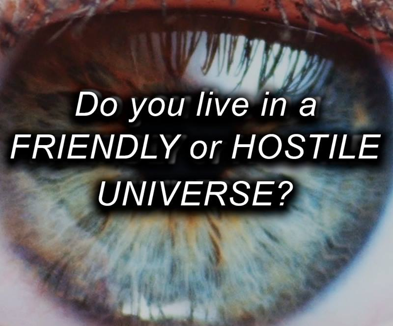 Do you live in a friendly or hostile universe?