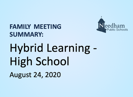 Family Meeting: Hybrid - High School (Blue & Gold Cohorts)