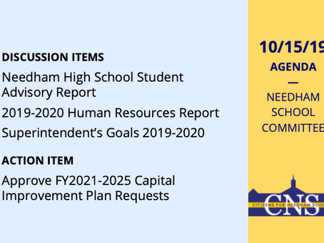 SC Meeting: October 15, 2019
