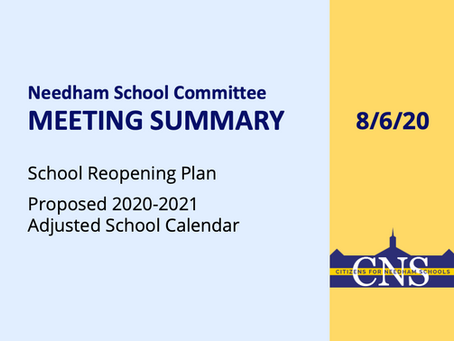 SC Meeting: August 6, 2020