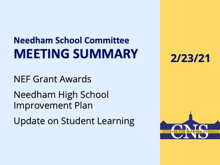 SC Meeting: February 23, 2021