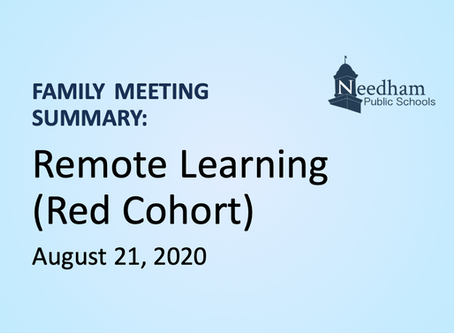 Family Meeting: Remote Learning (Red Cohort)
