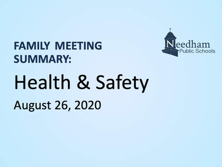 Family Meeting: Health & Safety