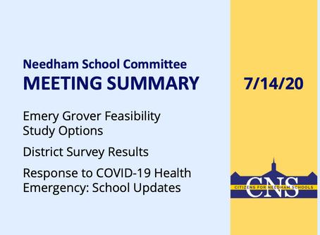 SC Meeting: July 14, 2020