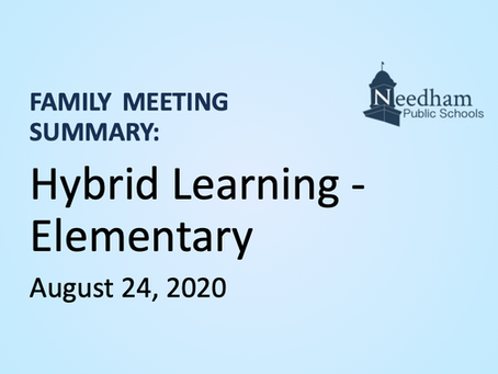 Family Meeting: Hybrid - Elementary (Blue & Gold Cohorts)