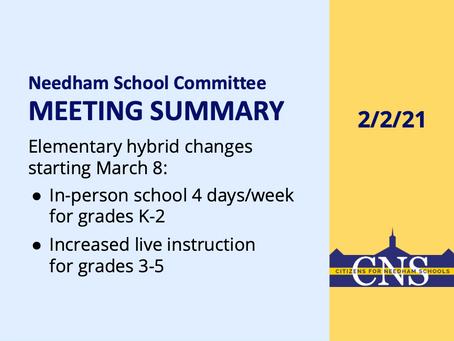 SC Meeting: February 2, 2021