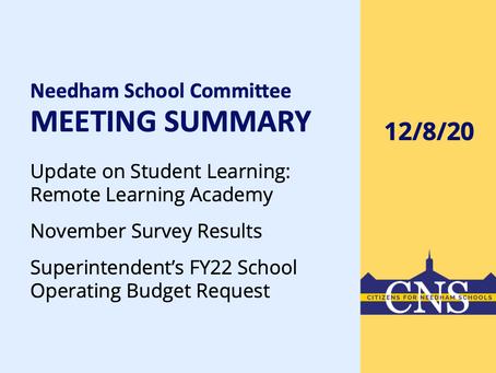 SC Meeting: December 8, 2020