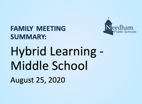 Family Meeting: Hybrid - Middle School (Blue & Gold Cohorts)