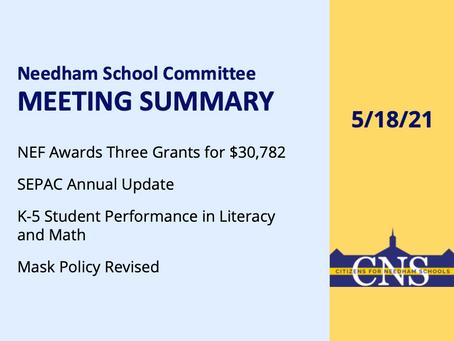 SC Meeting: May 18, 2021