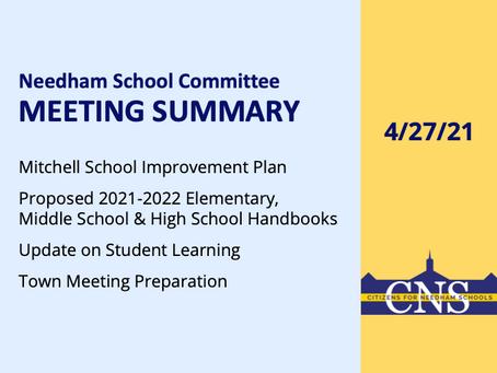 SC Meeting: April 27, 2021