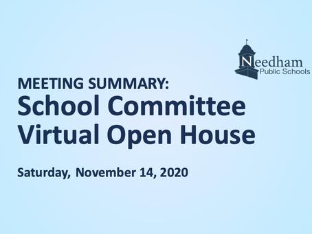 SC Open House: November 14, 2020