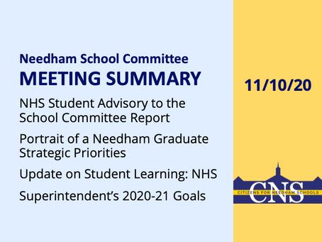 SC Meeting: November 10, 2020