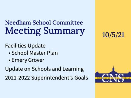 SC Meeting: October 5, 2021