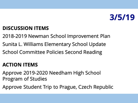 SC Meeting: March 5, 2019
