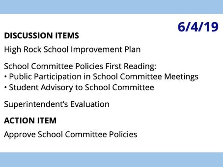 SC Meeting: June 4, 2019