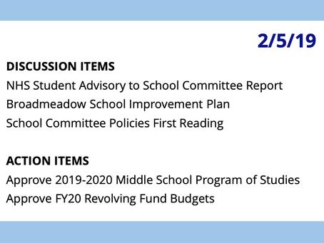 SC Meeting: February 5, 2019