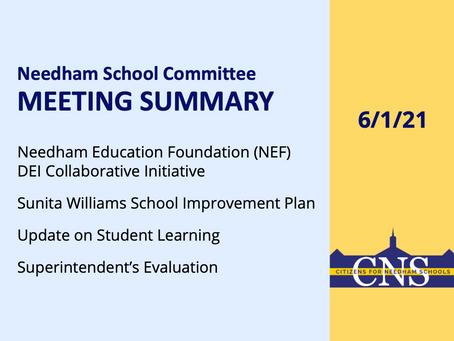 SC Meeting: June 1, 2021