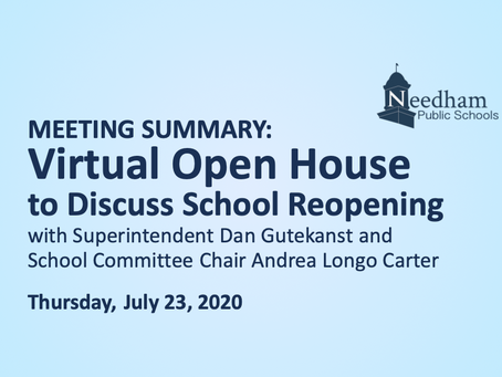 SC Open House: July 23, 2020