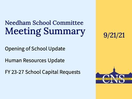 SC Meeting: September 21, 2021
