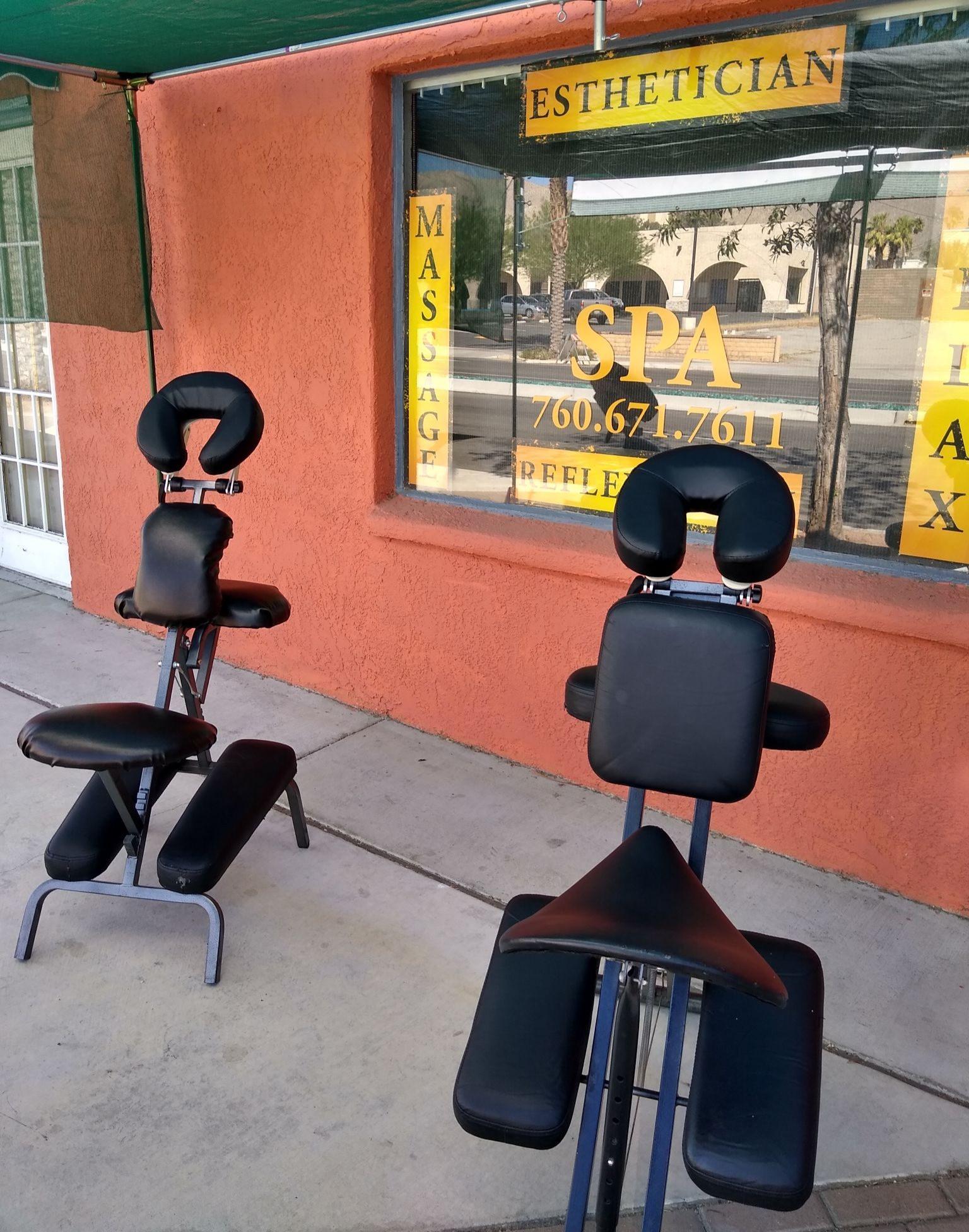 Outdoor chair massage
