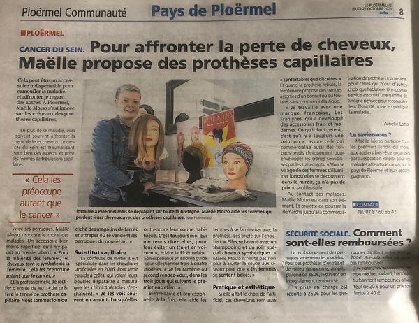 article ploërmelais 2020 prothèse capill