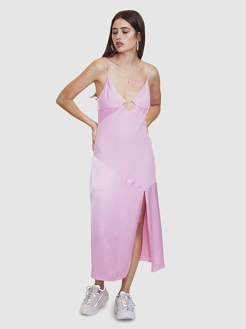 Pink Palm Beach Midi Dress