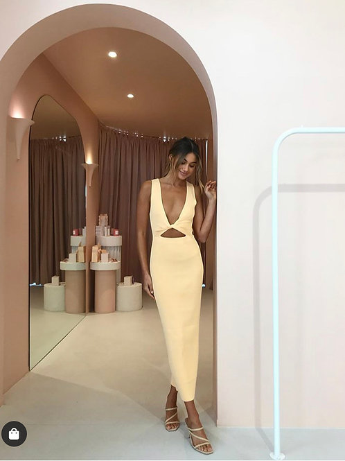 Sorbet Midi Dress Canteloupe