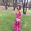 Thumbnail: Silk Cotton Strappy Dress Raspberry
