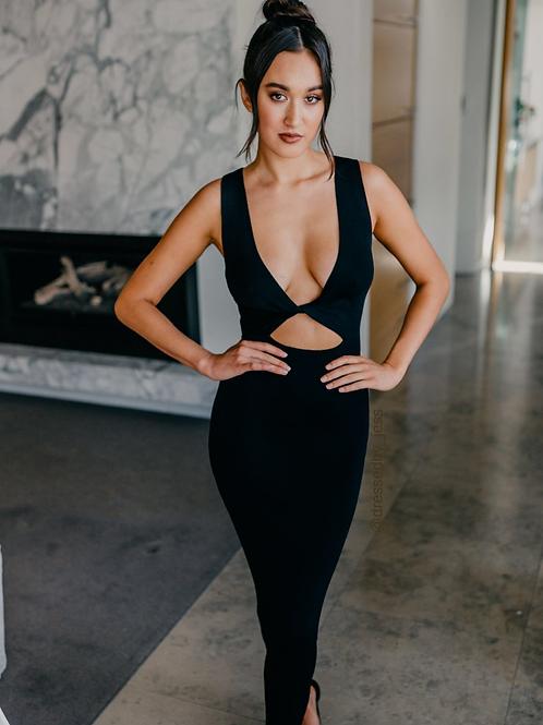 Sorbet Midi Dress Black