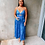 Thumbnail: Silk Tropical Strappy Dress Azure