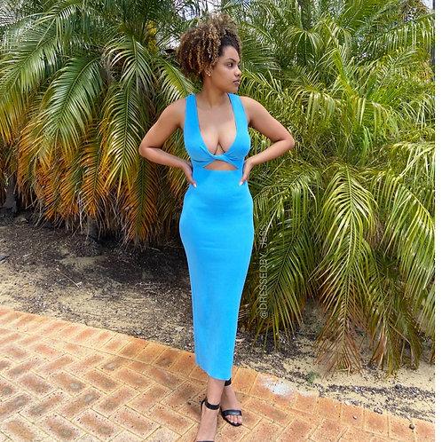 Sorbet Midi Dress Blue