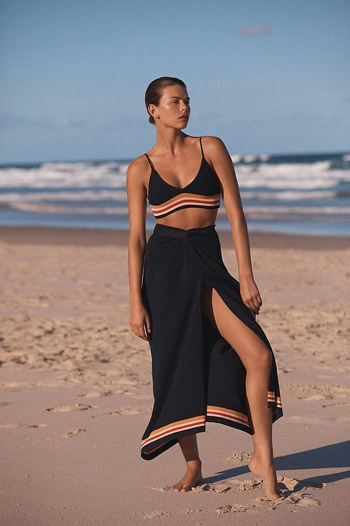 Crepe Knit Wrap Skirt and Bralette