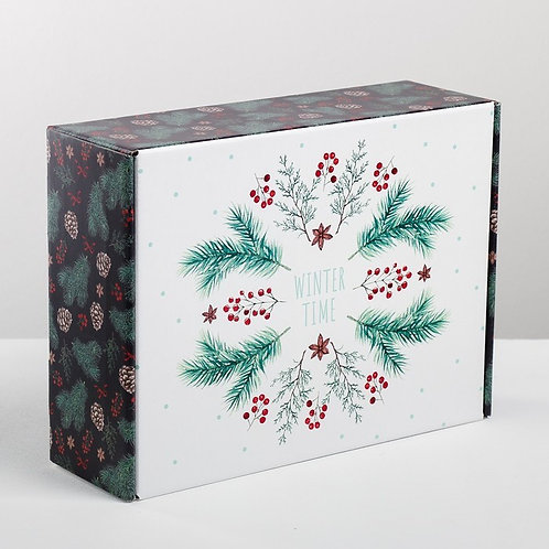 Коробка складная Winter time, 30.7 × 22 × 9.5 см