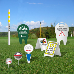 Abschlagmarkierung und Distanzmarker