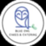 Blue Owl Cakes & Catering logo transpare