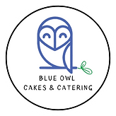 Blue Owl Cakes & Catering logo transpare