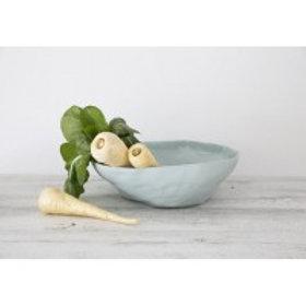 Mediterranean Markets Flax Fruit Bowl - Duck Egg