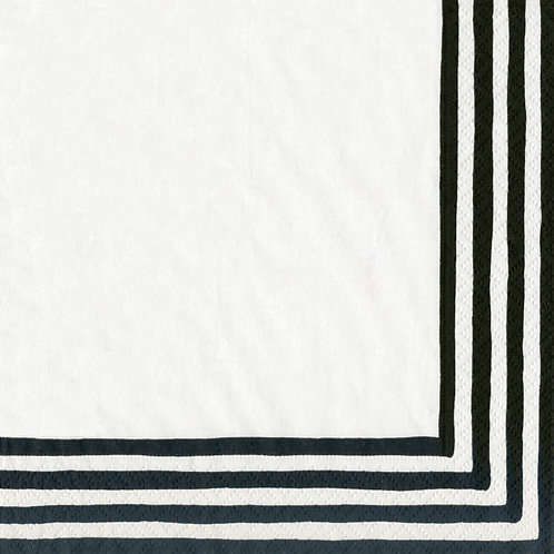 Caspari Collection Artist Sketchbook Stripe Border Black/White