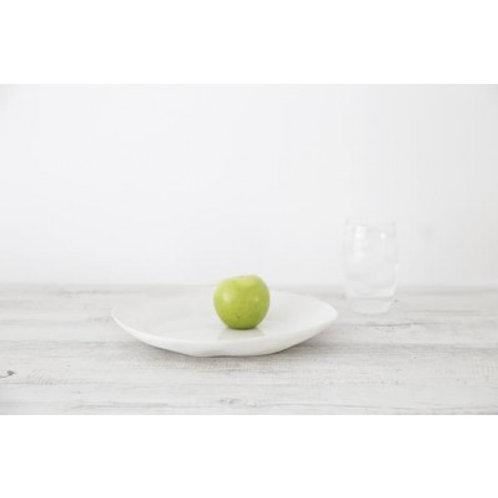 Mediterranean Markets Flax Plate - Snow White