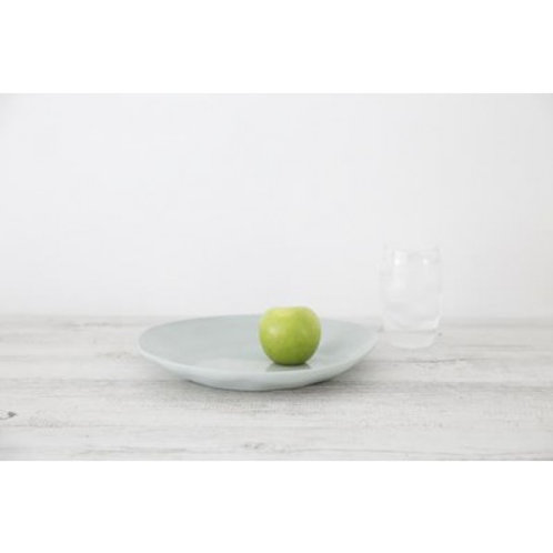 Mediterranean Markets Flax Plate - Duck Egg