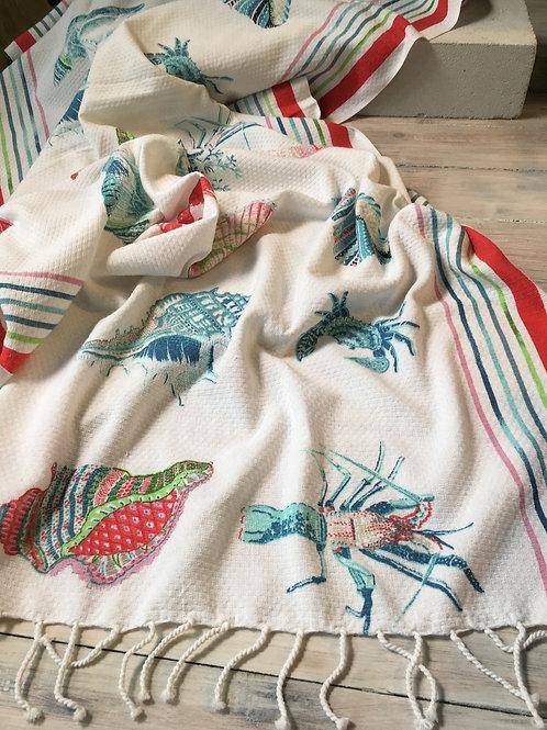 Amarine Beach Towel Hermes Red