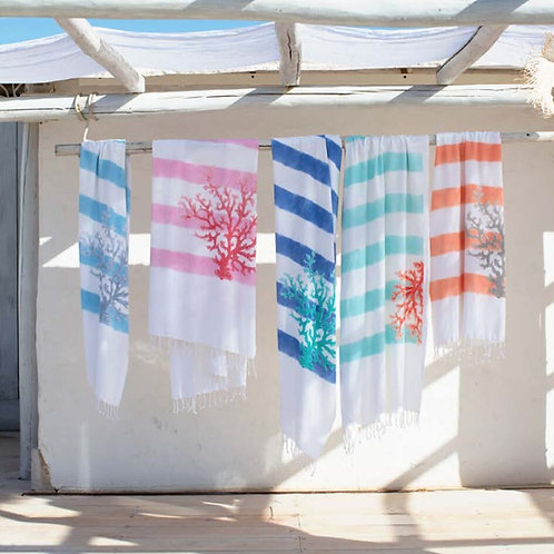 Beaurivage Beach Towel Indigo Aqua