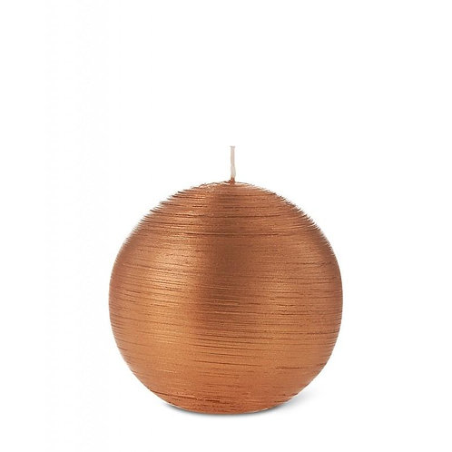 Copper Pearl Ball Candle