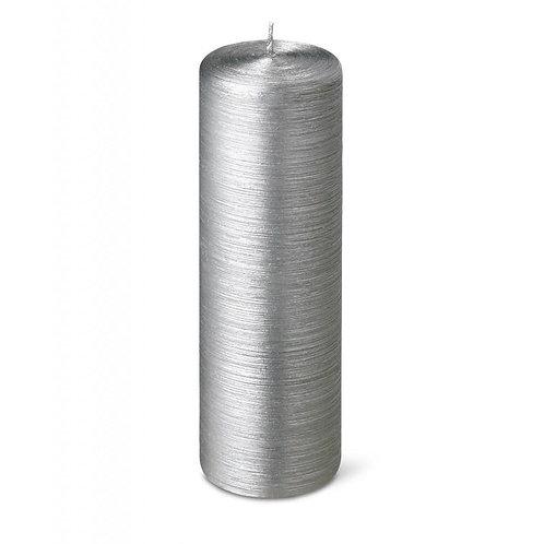 Silver Pillar Candle