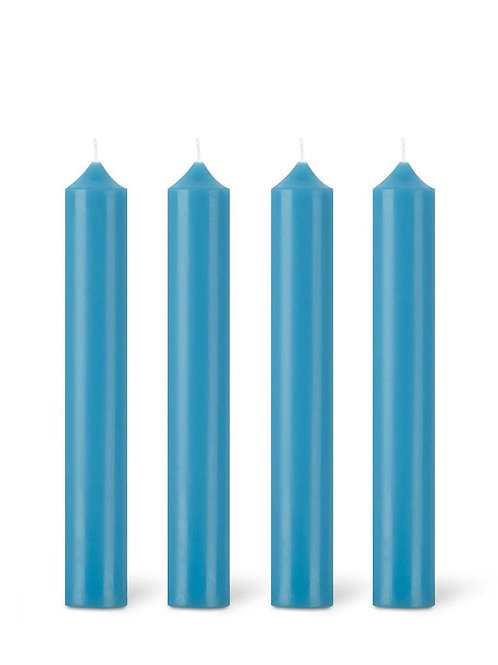 Mykonos Blue Dinner Candle