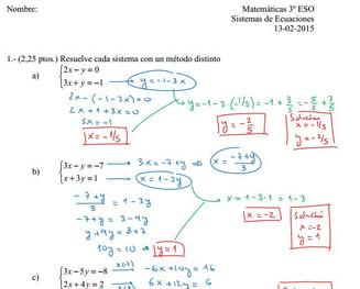 Exámenes resueltos del Tema 6 (3º ESO)