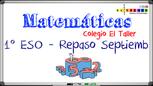TAREA DE VACACIONES 1º ESO - Curso 2020-21