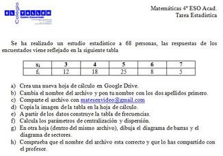 Tarea Estadística (4º ESO)