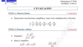 Instrucciones Examen GLOBAL 3º ESO